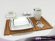 D1.C1 tableware-Vajilla 3d model
