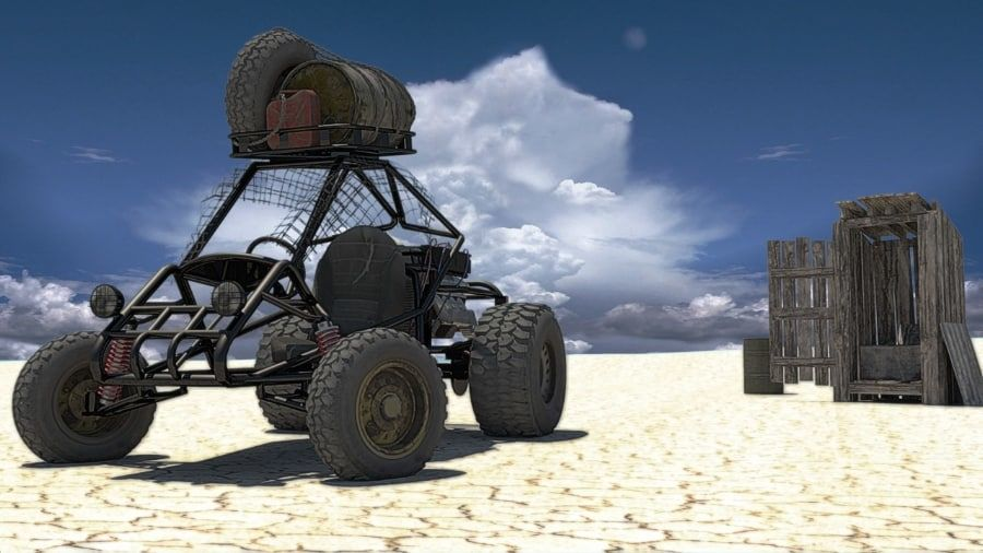 Dune Buggy royalty-free 3d model - Preview no. 4