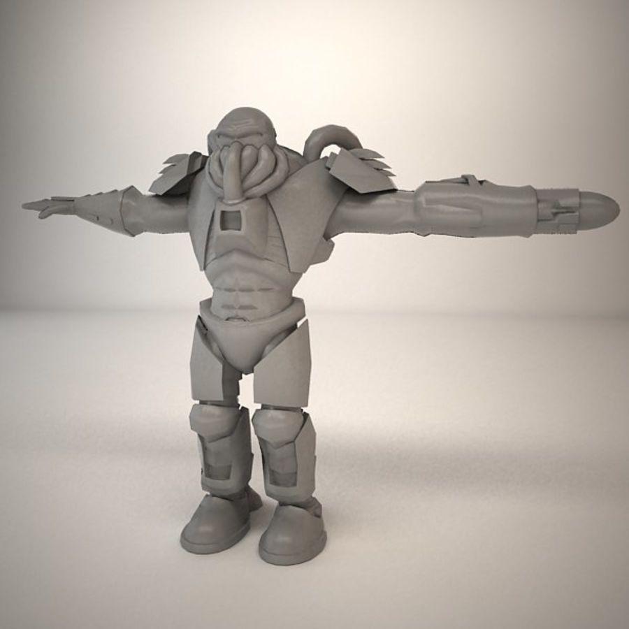 Существо игрового персонажа royalty-free 3d model - Preview no. 7