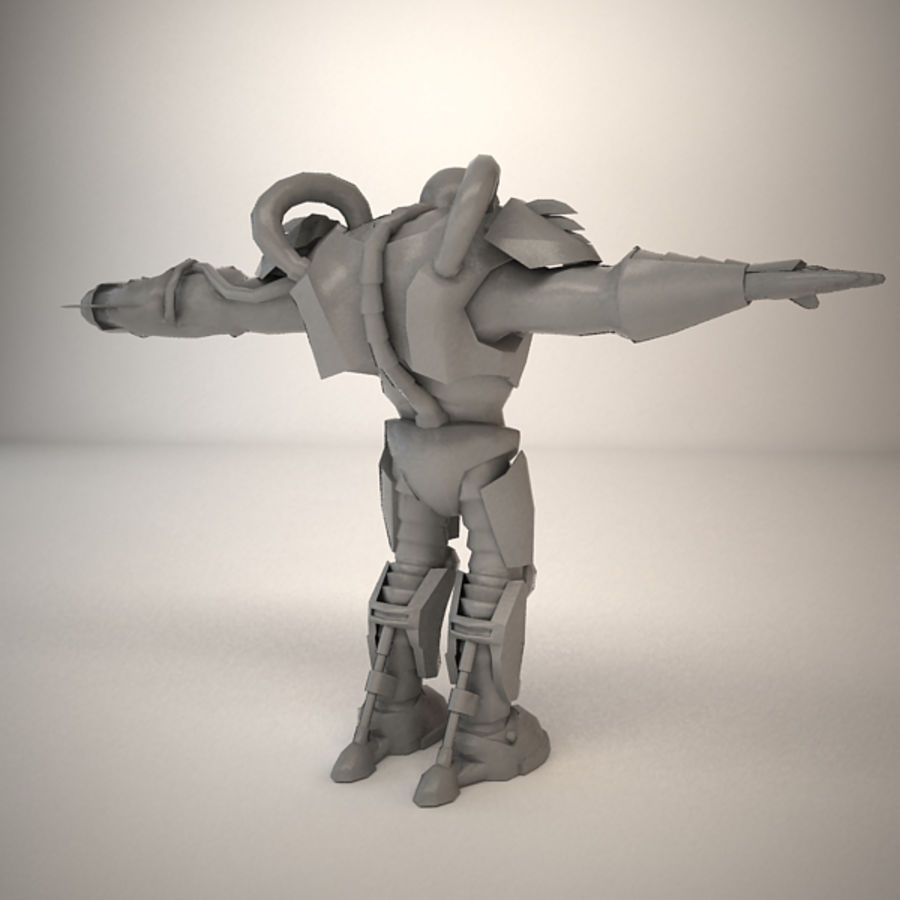 Существо игрового персонажа royalty-free 3d model - Preview no. 9