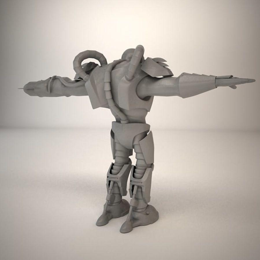 Существо игрового персонажа royalty-free 3d model - Preview no. 13
