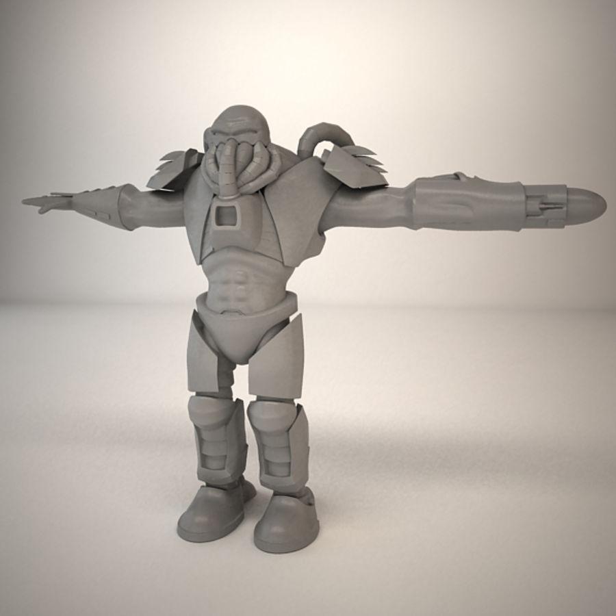 Существо игрового персонажа royalty-free 3d model - Preview no. 11