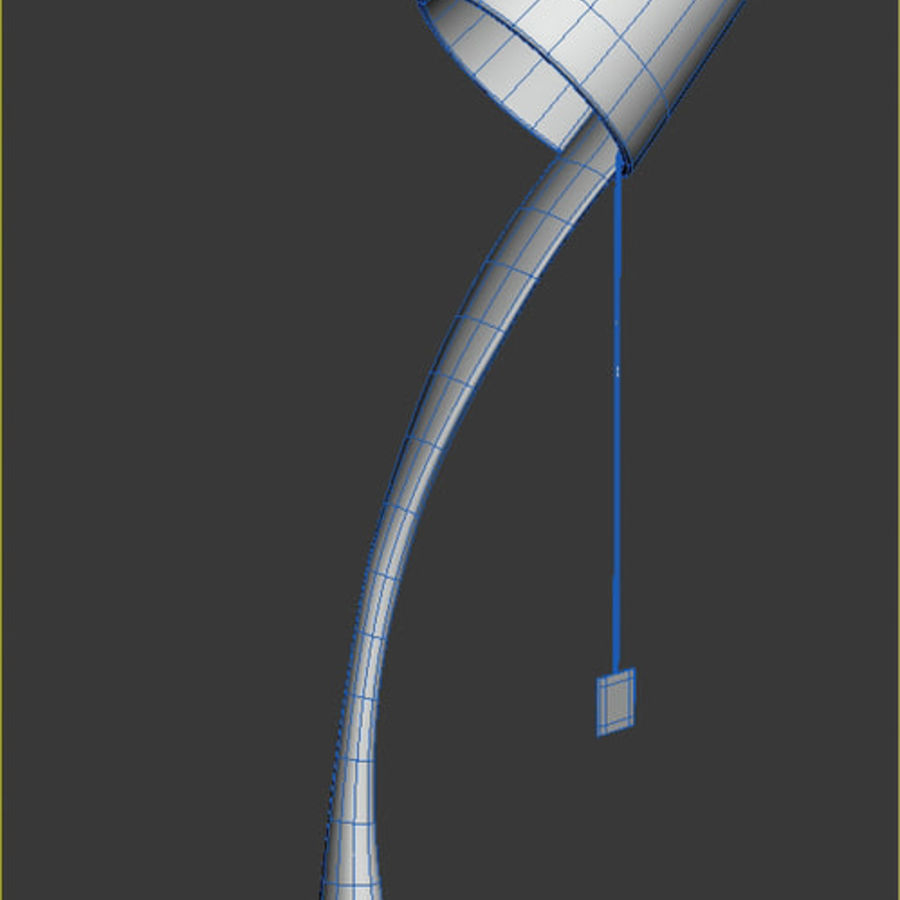 Derramando Copa Desk Lamp royalty-free 3d model - Preview no. 4