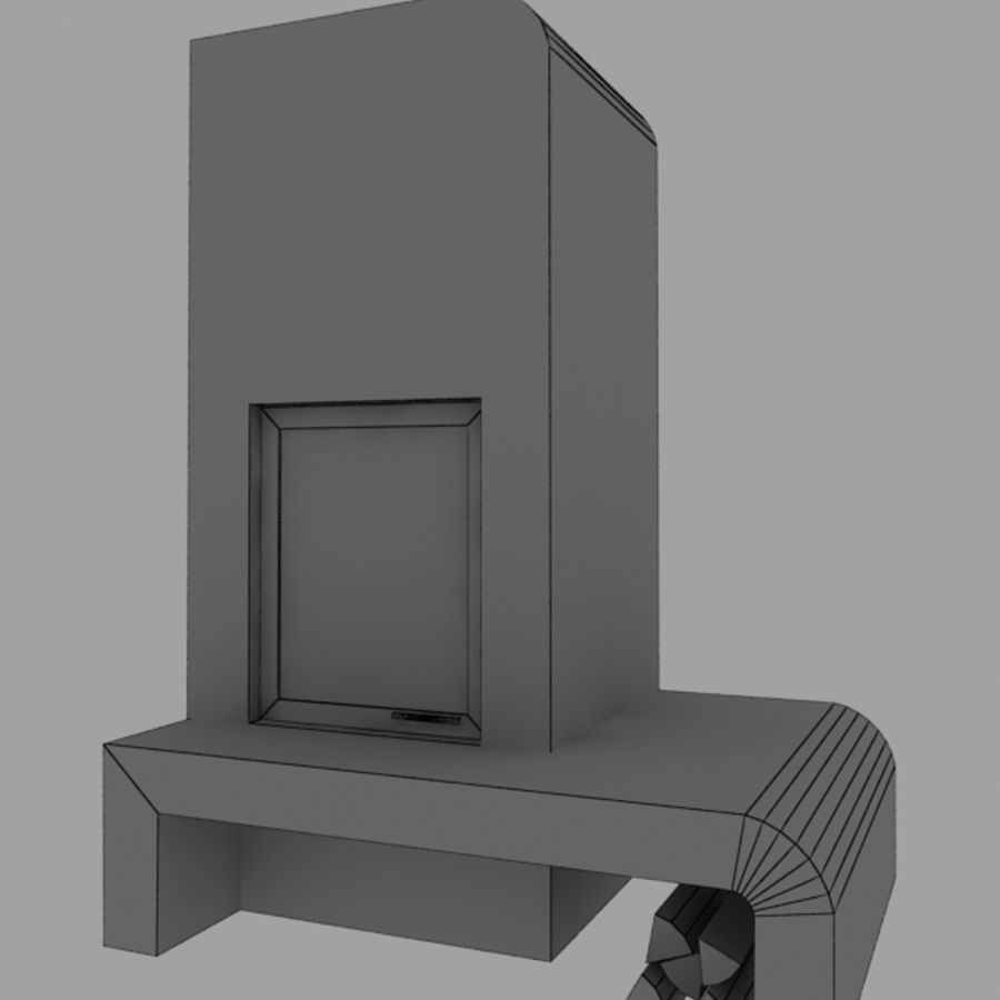 Fire Place royalty-free 3d model - Preview no. 2