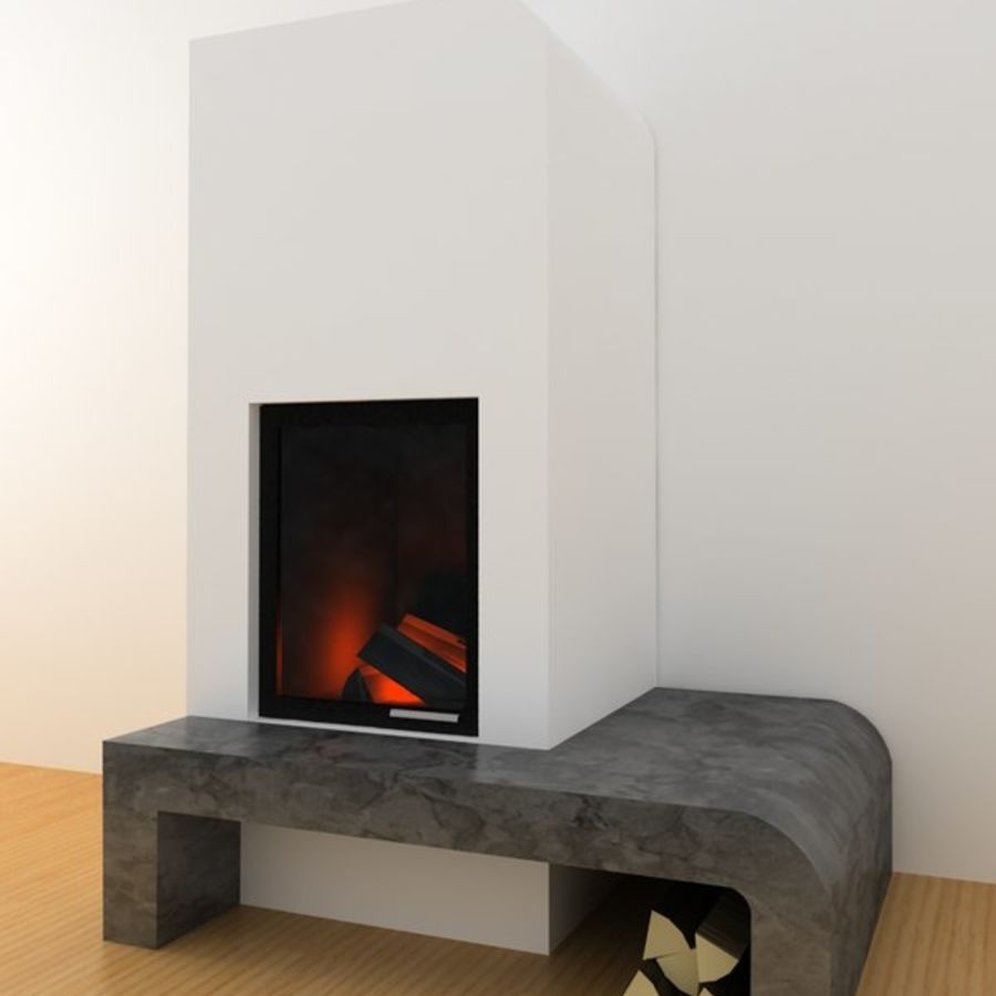 Fire Place royalty-free 3d model - Preview no. 1