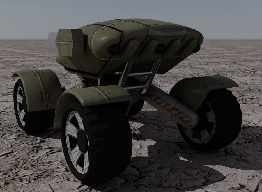 Armored Assault Vehicle royalty-free 3d model - Preview no. 7