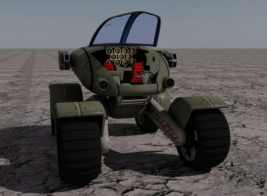 Armored Assault Vehicle royalty-free 3d model - Preview no. 8