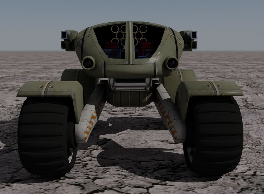 Armored Assault Vehicle royalty-free 3d model - Preview no. 6