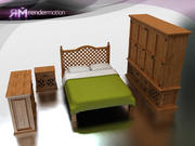 C4_S3_Puebla Bedroom-Hab. Puebla 3d model