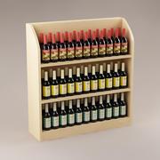 Bottles & shelf_01 3d model