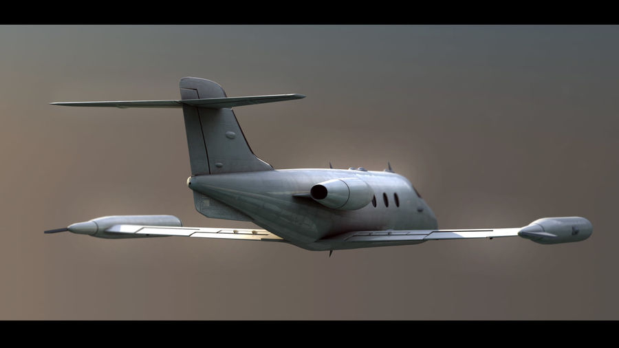 Bombardier Learjet 30 royalty-free 3d model - Preview no. 4