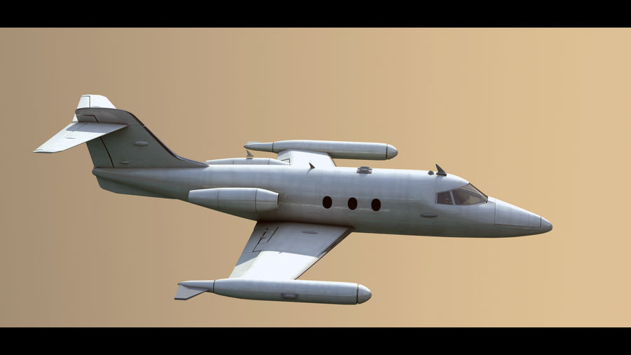 Bombardier Learjet 30 royalty-free 3d model - Preview no. 2