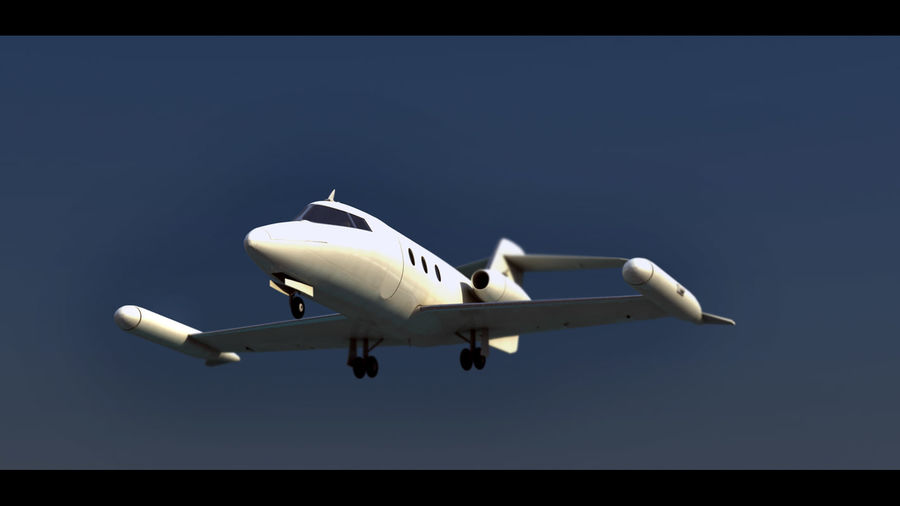 Bombardier Learjet 30 royalty-free 3d model - Preview no. 3