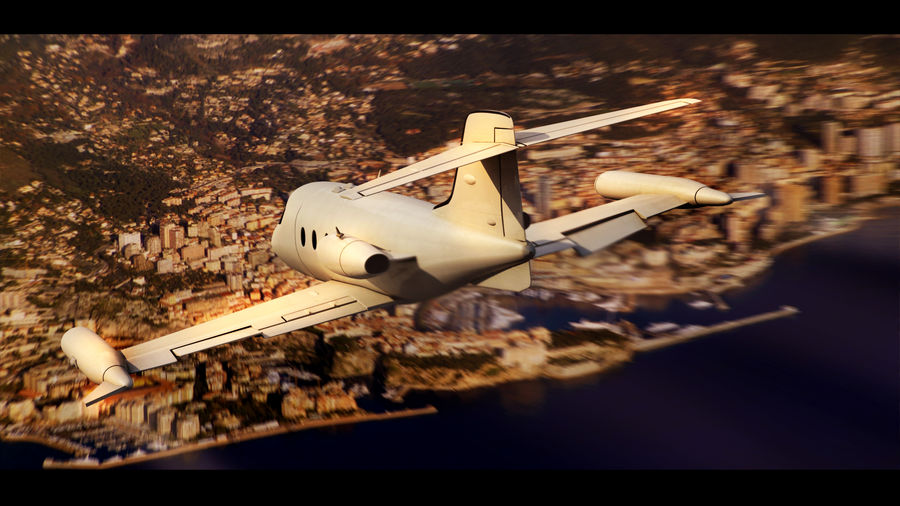 Bombardier Learjet 30 royalty-free 3d model - Preview no. 1