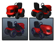 simple ride-on mower 3d model