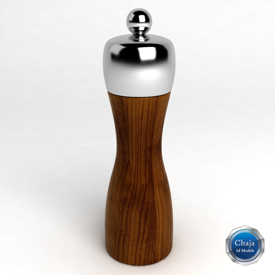 Pepper Shaker_02 royalty-free 3d model - Preview no. 1