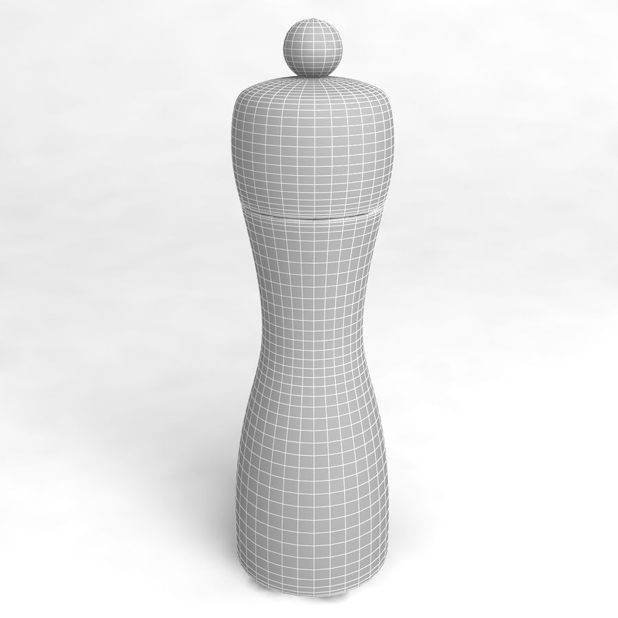 Pepper Shaker_02 royalty-free 3d model - Preview no. 4