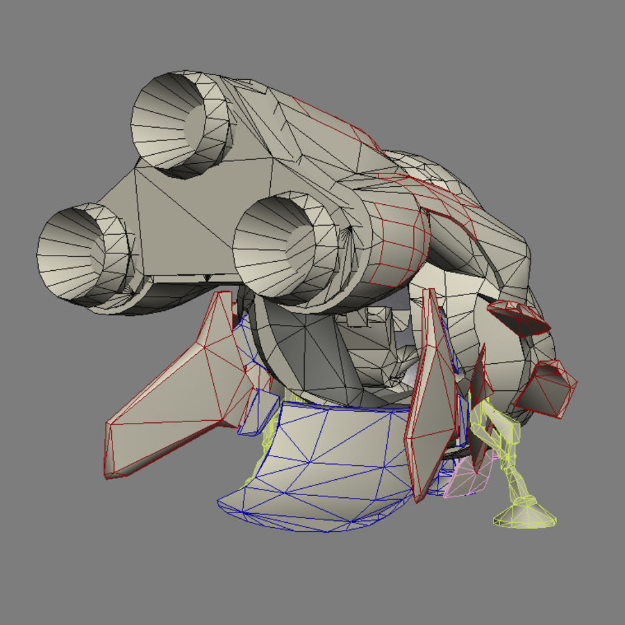 Spaceship royalty-free 3d model - Preview no. 12