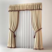 Classic Curtain 3d model