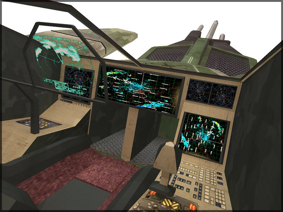 High Tech Plane, Low Poly, Textured royalty-free 3d model - Preview no. 5