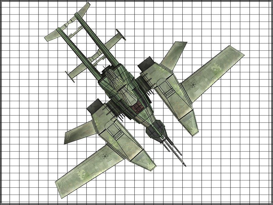 High Tech Plane, Low Poly, Textured royalty-free 3d model - Preview no. 12