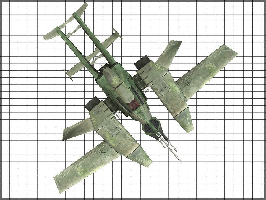 High Tech Plane, Low Poly, Textured royalty-free 3d model - Preview no. 11