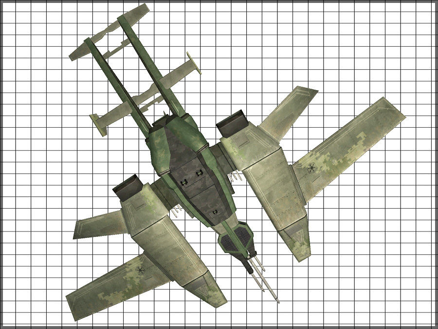 High Tech Plane, Low Poly, Textured royalty-free 3d model - Preview no. 9