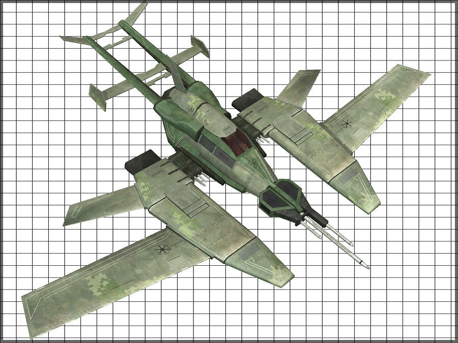 High Tech Plane, Low Poly, Textured royalty-free 3d model - Preview no. 8