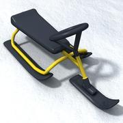 Snow sled 3d model