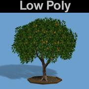 PL Low Poly Orange Tree 3d model