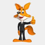 Fox in suit 3d model