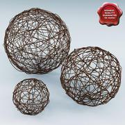 Wicker Core Spheres 3d model
