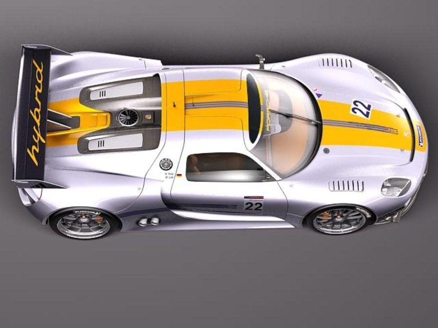 Porsche 918 RSR 2012 royalty-free 3d model - Preview no. 8