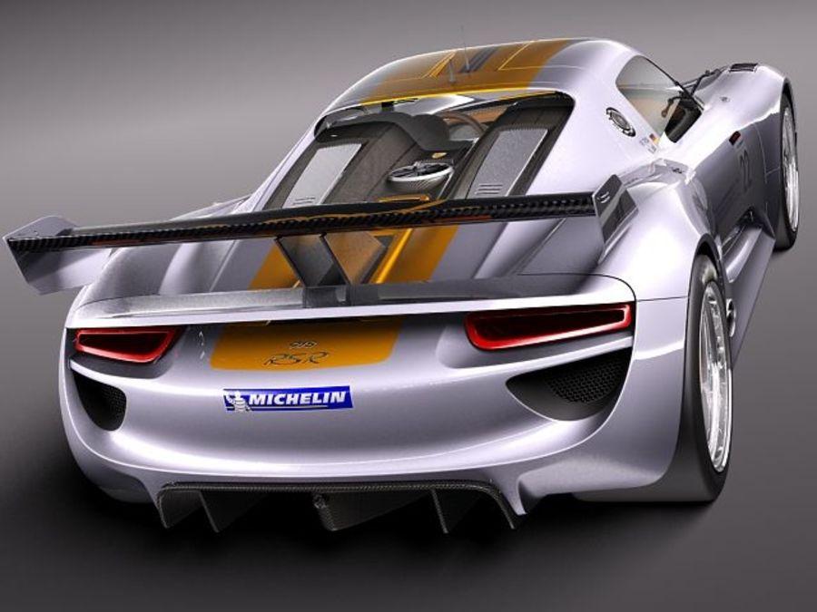 Porsche 918 RSR 2012 royalty-free 3d model - Preview no. 5