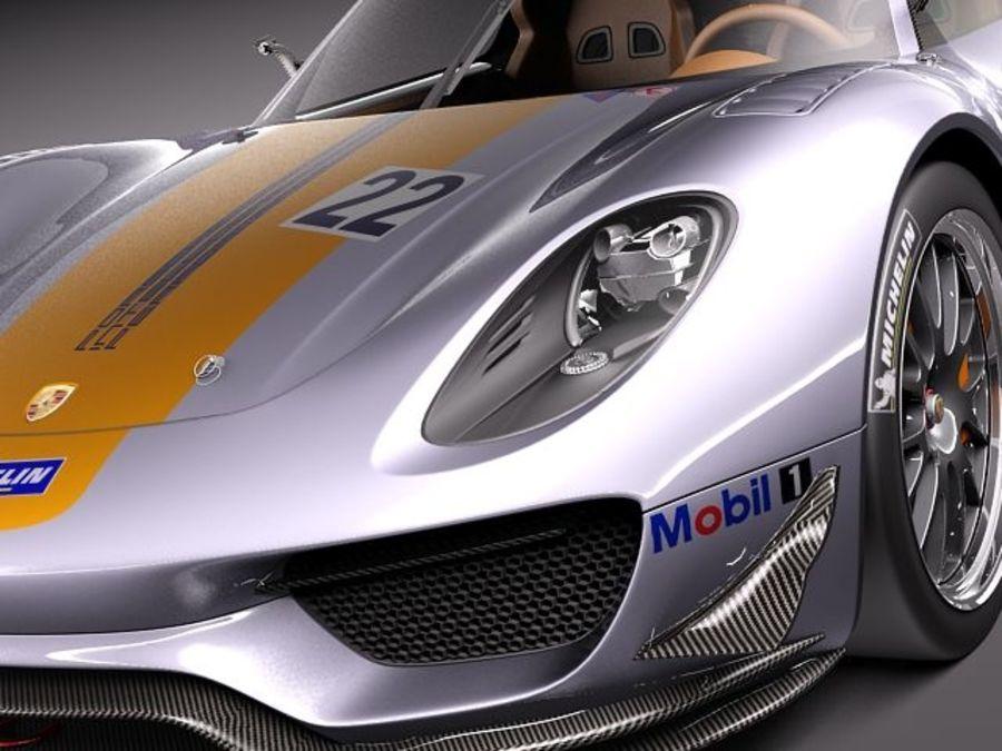 Porsche 918 RSR 2012 royalty-free 3d model - Preview no. 3