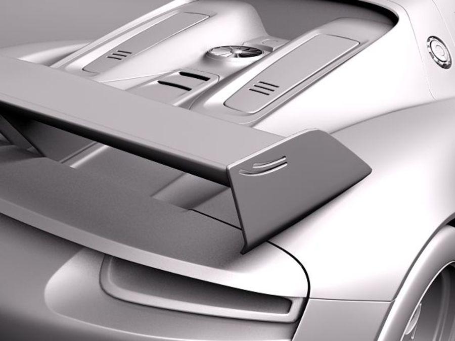 Porsche 918 RSR 2012 royalty-free 3d model - Preview no. 10