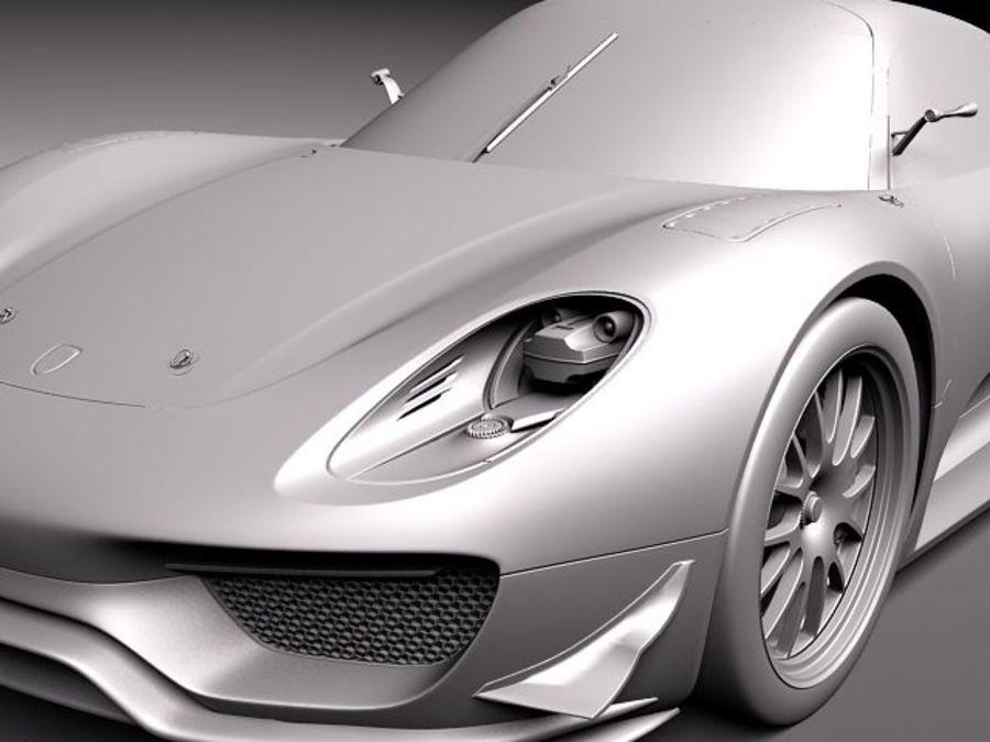 Porsche 918 RSR 2012 royalty-free 3d model - Preview no. 11