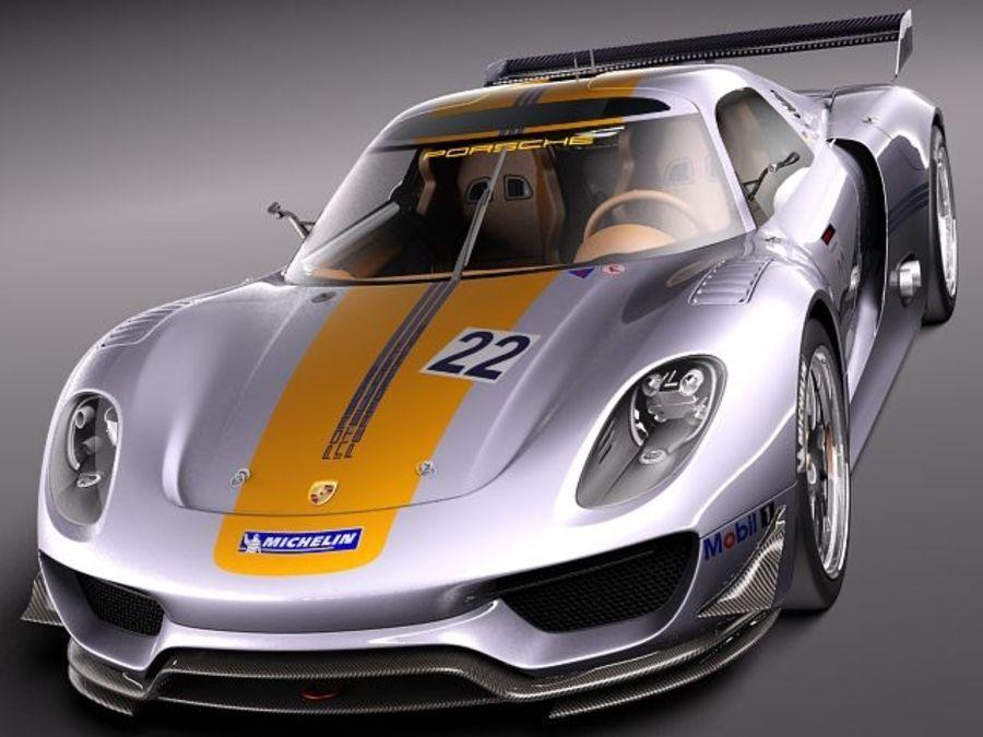 Porsche 918 RSR 2012 royalty-free 3d model - Preview no. 2