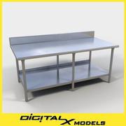 Food Prep Table 2 3d model