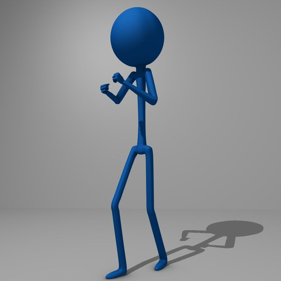 Stickman royalty-free 3d model - Preview no. 6