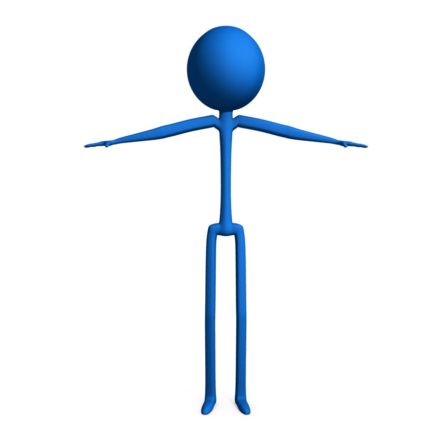 Stickman royalty-free 3d model - Preview no. 2