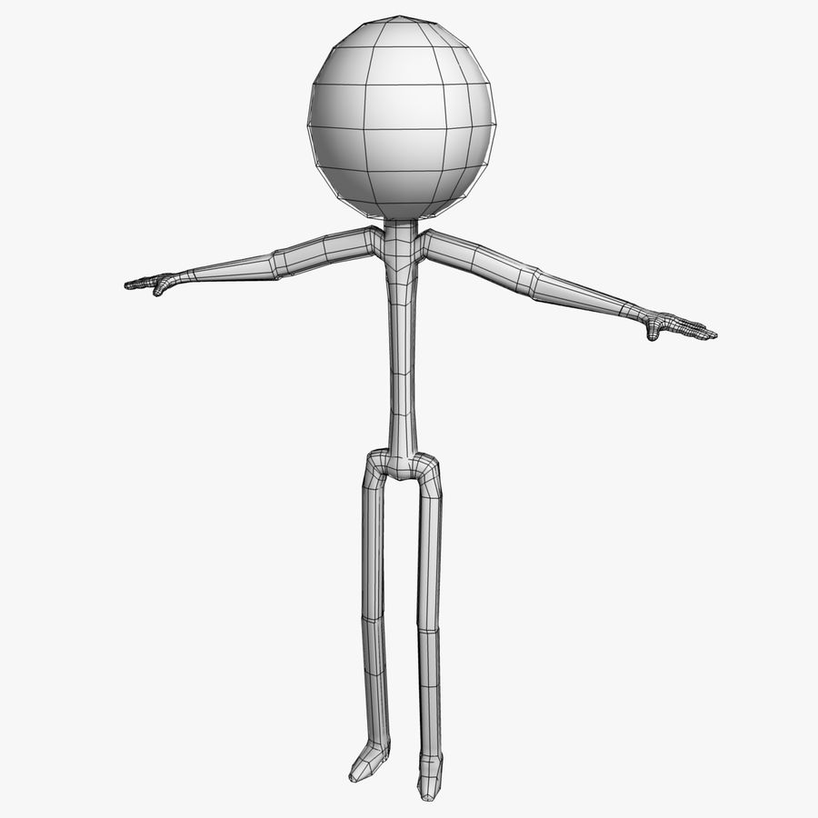 Stickman royalty-free 3d model - Preview no. 7