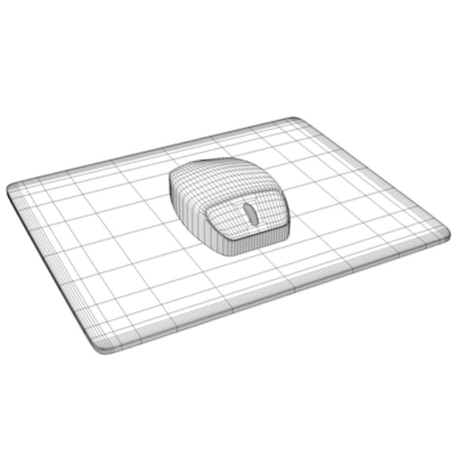 Mus & Mousepad royalty-free 3d model - Preview no. 2