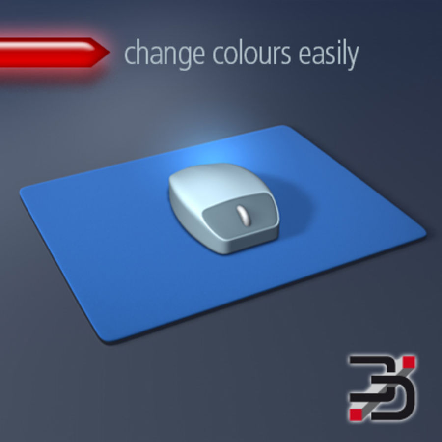 Mus & Mousepad royalty-free 3d model - Preview no. 1