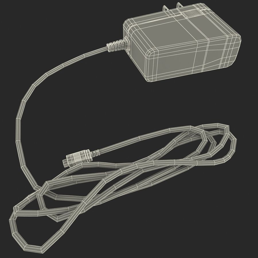 Mobile Phone Travel Charger royalty-free 3d model - Preview no. 10