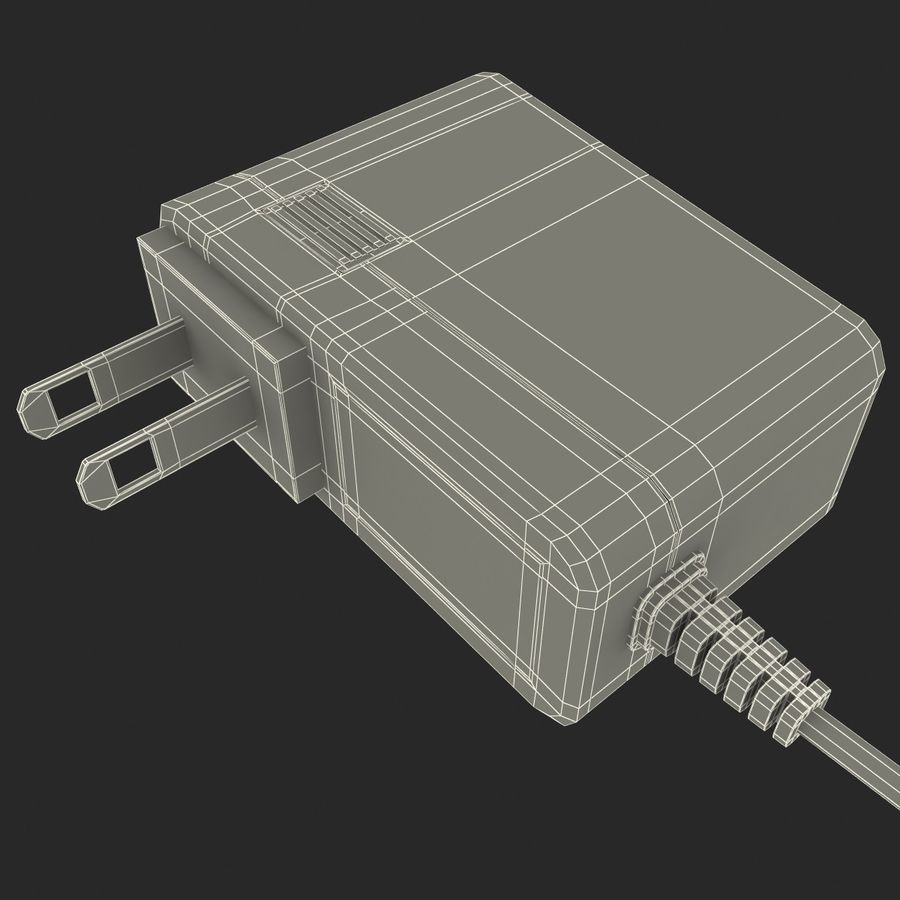 Mobile Phone Travel Charger royalty-free 3d model - Preview no. 11