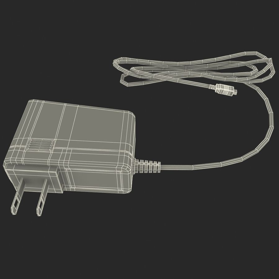 Mobile Phone Travel Charger royalty-free 3d model - Preview no. 9