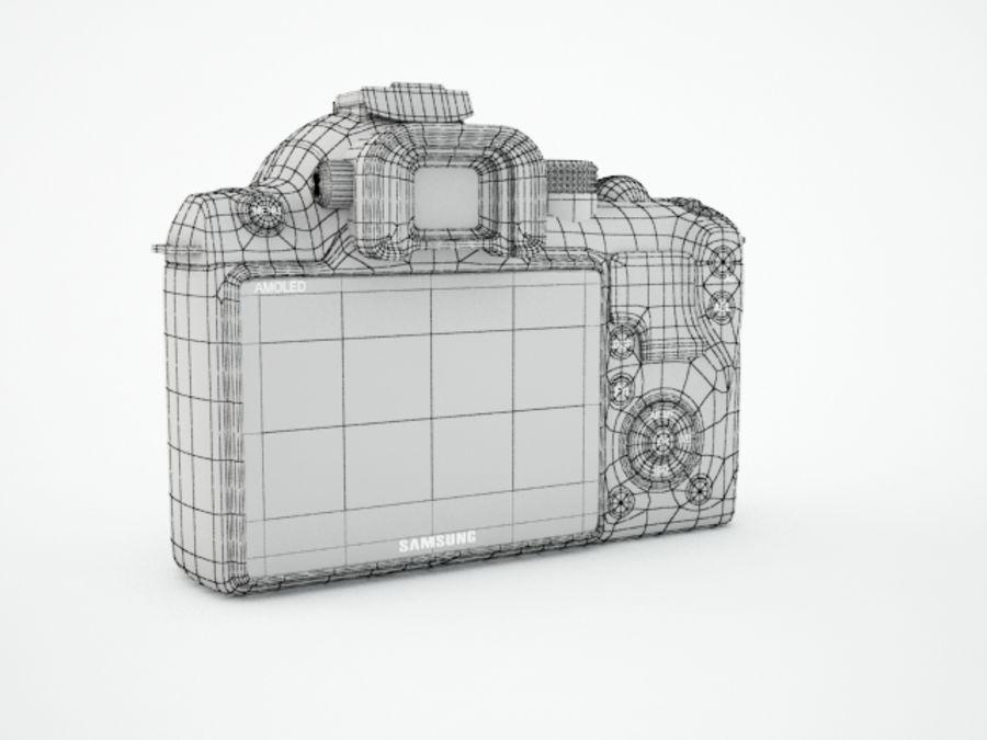 Samsung digital camera NX10 royalty-free 3d model - Preview no. 8
