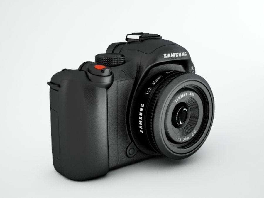 Samsung digital camera NX10 royalty-free 3d model - Preview no. 2