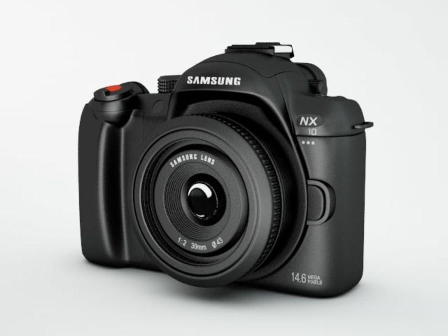 Samsung digital camera NX10 royalty-free 3d model - Preview no. 1